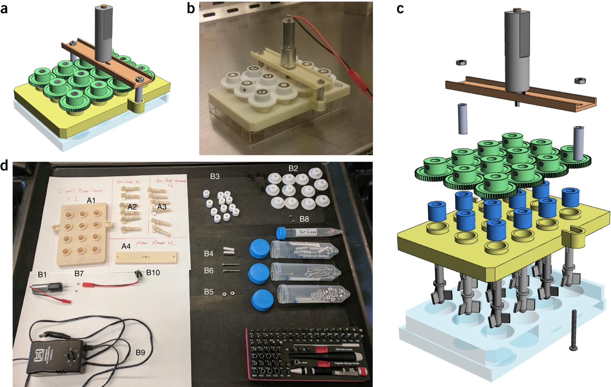 Building a SpinΩ bioreactor.